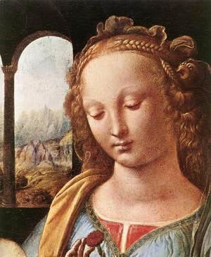 Leonardo Da Vinci - The Madonna of the Carnation [detail: 1]