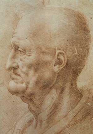 Leonardo Da Vinci - Study of an Old Man's Profile