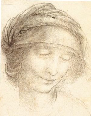 Leonardo Da Vinci - Head of a woman