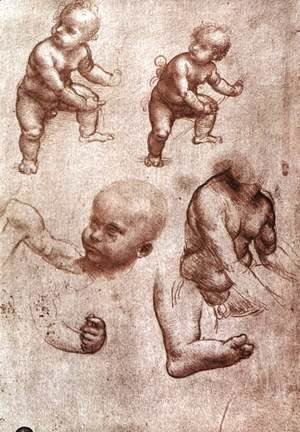 Leonardo Da Vinci - Study of a child