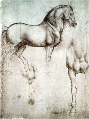 Leonardo Da Vinci - Study of horses