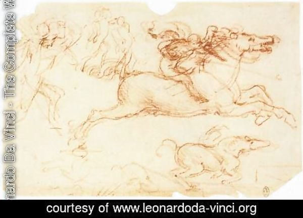 Leonardo Da Vinci - Galloping Rider and other figures