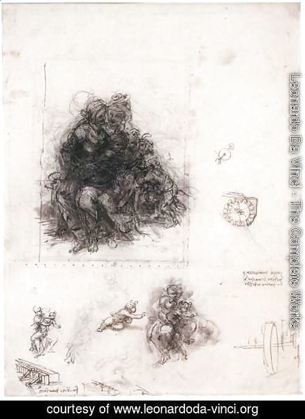 Leonardo Da Vinci - Study for the Burlington House Cartoon