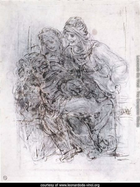 Study of St Anne, Mary and the Christ Child