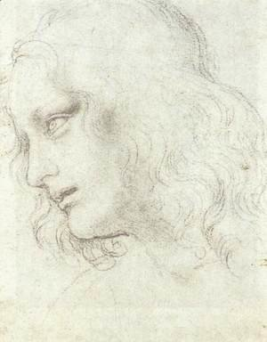 Leonardo Da Vinci - Study for the Last Supper: James