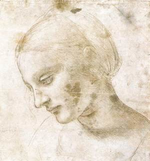 Leonardo Da Vinci - Study of a woman's head