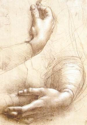 Leonardo Da Vinci - Study of hands