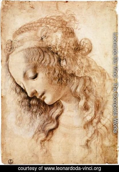Leonardo Da Vinci - Woman's Head