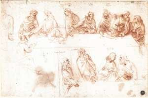 Leonardo Da Vinci - Study for the Last Supper 3