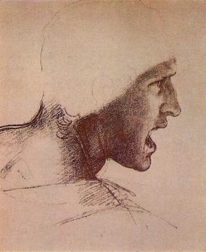 Leonardo Da Vinci - Head of a Warrior