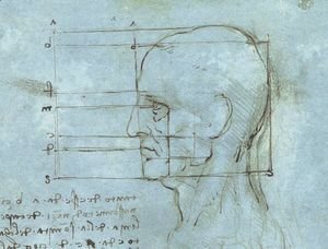 Leonardo Da Vinci - Blue Head