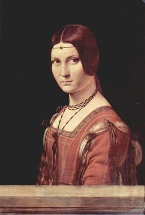 Leonardo Da Vinci - Portrait of a Lady called La Belle Ferronniere 1490-95