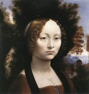 Leonardo Da Vinci - Portrait of Ginevra de Benci