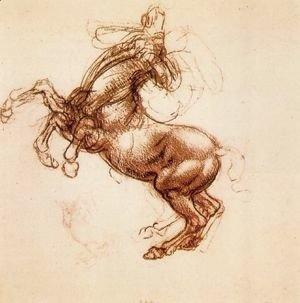 Leonardo Da Vinci - Rearing Horse 1483-98