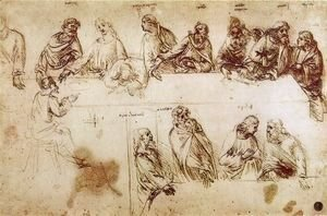 Leonardo Da Vinci - Study for the Composition of the Last Supper