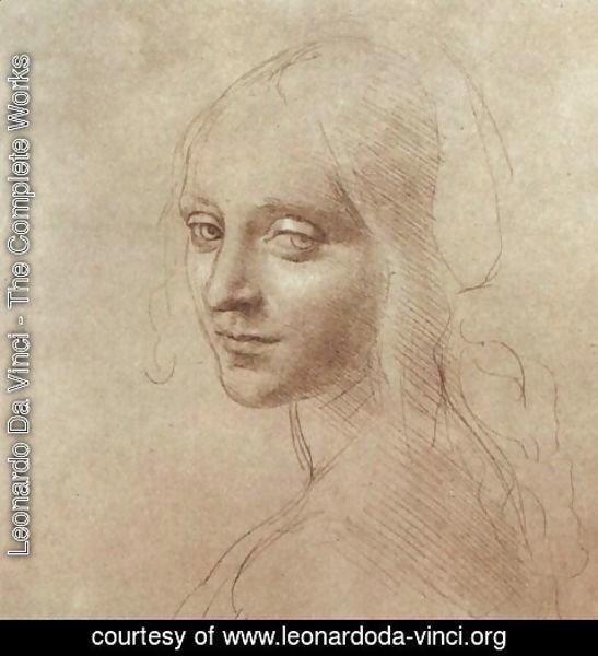Leonardo Da Vinci - The Complete Works - Study of an angel ...