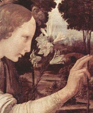 Leonardo Da Vinci - Annunciation (detail) 7