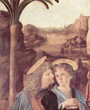 Leonardo Da Vinci - Baptism (detail) 2