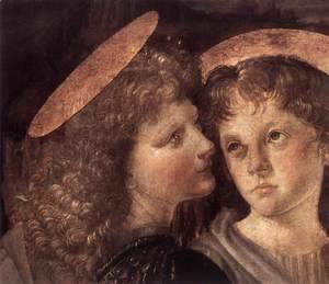 Leonardo Da Vinci - Baptism(detail) 1