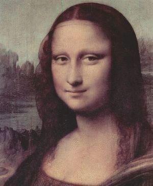 Leonardo Da Vinci - Mona Lisa (La Gioconda) (detail)