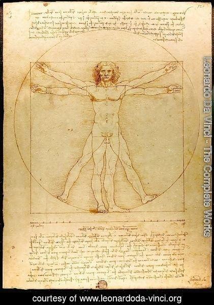 Leonardo Da Vinci - The Complete Works - Vitruvian Man ...