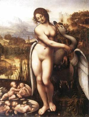 Leonardo Da Vinci - Leda and the Swan 1505 10 2