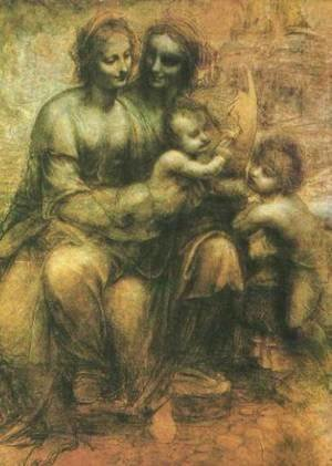 Leonardo Da Vinci - Virgin and Child with John the Baptist and St Anne