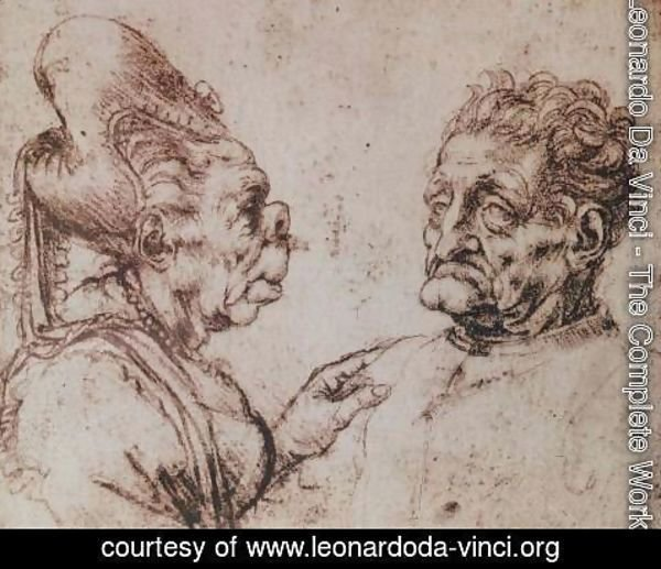 Leonardo Da Vinci The Complete Works Caricature