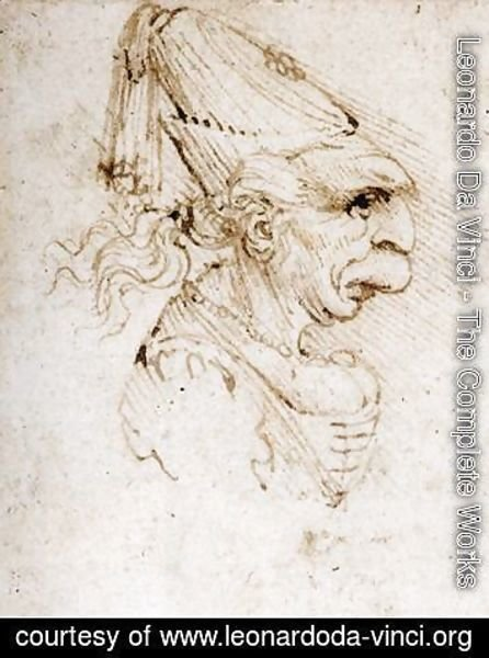 Leonardo Da Vinci The Complete Works Caricature 3