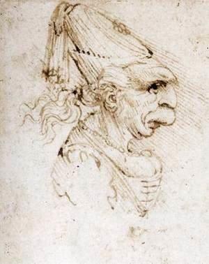 Leonardo Da Vinci - Caricature 3
