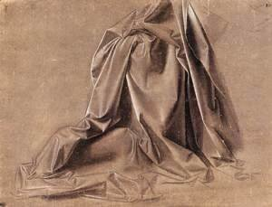 Leonardo Da Vinci - Drapery for a seated figure