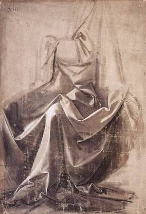 Leonardo Da Vinci - Drapery for a seated figure 2