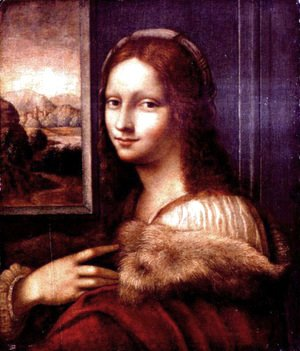 Leonardo Da Vinci - Young lady with a fur