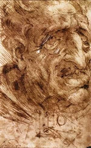 Leonardo Da Vinci - Head of an Old Man