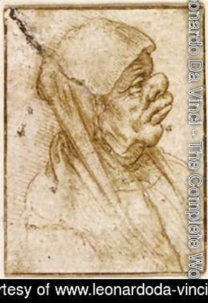 Leonardo Da Vinci - Caricature of an Old Woman