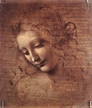 Leonardo Da Vinci - Head of a Young Woman with Tousled Hair (Leda)