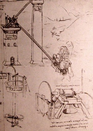 Leonardo Da Vinci - Drawings of machines