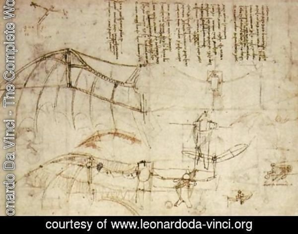 Leonardo Da Vinci - Design for a Flying Machine