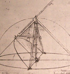 Leonardo Da Vinci - Design for a parabolic compass