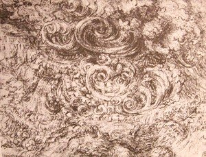 Leonardo Da Vinci - Drawing of an flood