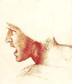 Leonardo Da Vinci - Study of a Figure for the Battle of Anghiari