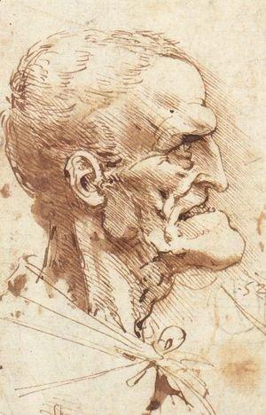 Leonardo Da Vinci - Grotesque Profile