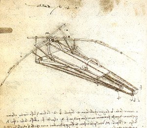 Leonardo Da Vinci - One of Leonardo da Vinci's designs for an Ornithopter