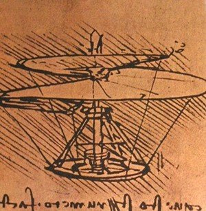Leonardo Da Vinci - Design for a helicopter