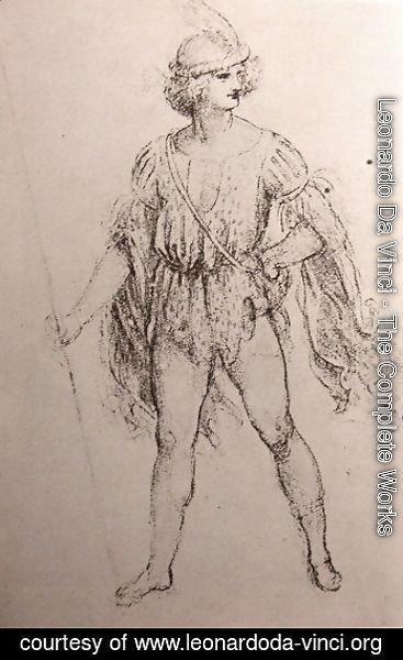 Leonardo Da Vinci The Complete Works Drawing Of A Fancy Dress