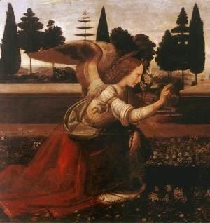 Leonardo Da Vinci - Annunciation (detail 1) 1472-75