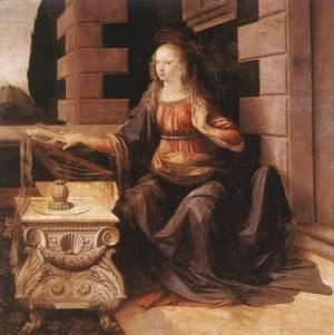 Leonardo Da Vinci - Annunciation (detail 2) 1472-75