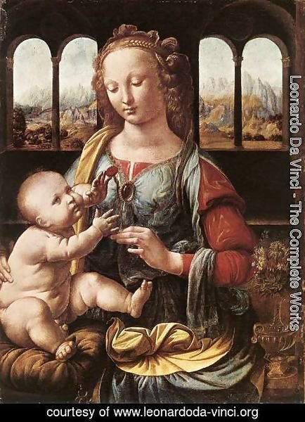 Leonardo Da Vinci - The Madonna of the Carnation 1478-80