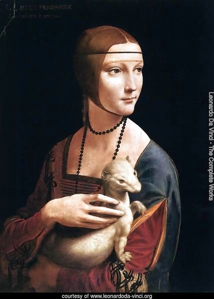 Portrait of Cecilia Gallerani (Lady with an Ermine) 1483-90