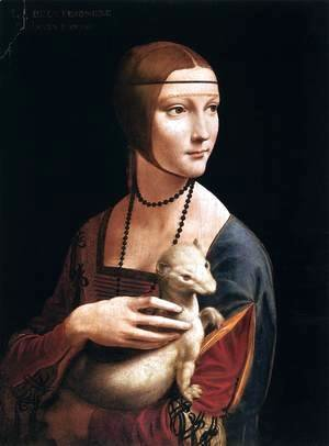 Leonardo Da Vinci - Portrait of Cecilia Gallerani (Lady with an Ermine) 1483-90